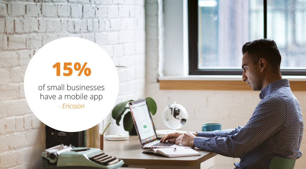 15% of small businesses have an app